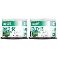 マクセル録画用DVD-R4.7GB1-16倍速対応CPRM対応インクジェットプリンタ対応50枚入り2個セットDRD120PWE50SPP2