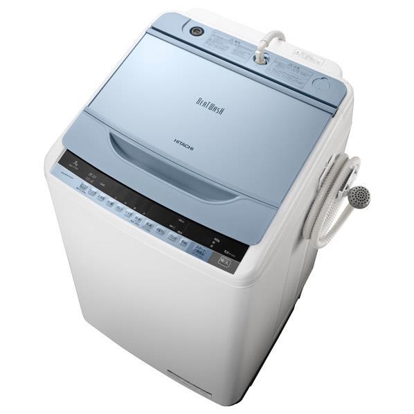 日立 7.0kg全自動洗濯機 ビートウォッシュ ブルー BW-V70A A [BWV70AA]【DZI】:エディオン