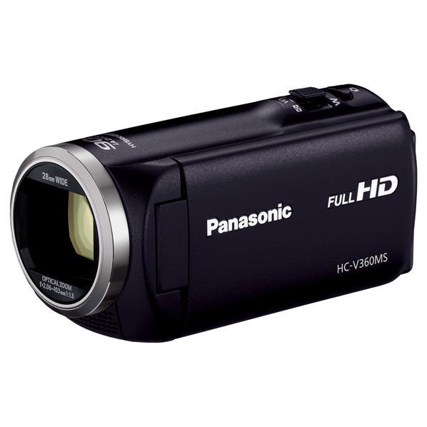 【送料無料】パナソニック 16GB内蔵メモリー デジタルハイビジョンビデオカメラ ブラック HC-V360MS-K [HCV360MSK] 【楽天あんしん延長保証対象】iA90倍ズームで屋外イベントでもしっかり!