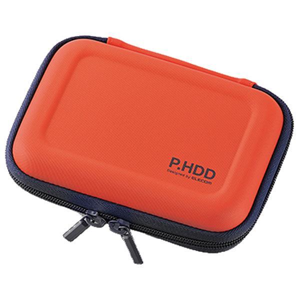 エレコム ポータブルHDDセミハードケース(Sサイズ) オレンジ HDC-SH001DR [HDCSH001DR]【SEPP】画像