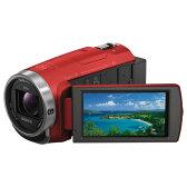 【送料無料】SONY 64GB内蔵メモリー デジタルHDビデオカメラレコーダー ハンディカム レッド HDR-CX680 R [HDRCX680R]