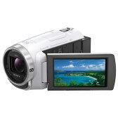 【送料無料】SONY 64GB内蔵メモリー デジタルHDビデオカメラレコーダー ハンディカム ホワイト HDR-PJ680 W [HDRPJ680W]