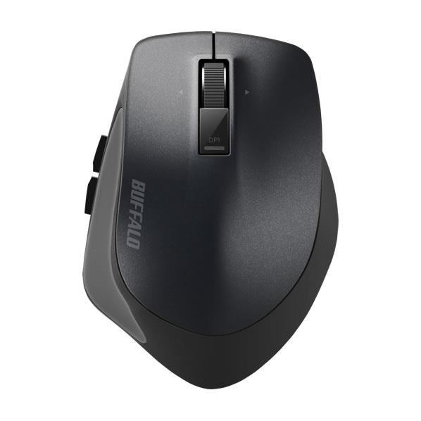 BUFFALO Bluetooth BlueLEDマウス(Sサイズ) Premium Fit ブラック BSMBB500SBK [BSMBB500SBK]