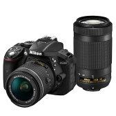【送料無料】ニコン デジタル一眼レフカメラ・AF-P ダブルズームキット D5300 ブラック D5300WZ3 [D5300WZ3]
