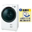 【送料無料】シャープ 【右開き】7.0kgドラム式洗濯乾燥機 ホワイト系 ESS7BWR [ESS7BWR]【RNH】