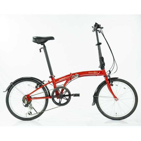【送料無料】OTOMO 20インチ折りたたみ自転車 SUV D6 DAHON レッド...