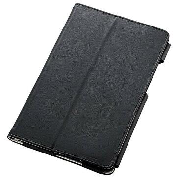 エレコム Qua tab QZ8用ソフトレザーカバー/2アングル ブラック TBA-KYH08PLFBK [TBAKYH08PLFBK]
