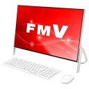 富士通 一体型デスクトップパソコン KuaL ESPRIMO ホワイト×コーラルピンク FMVF52C2PG [FMVF52C2PG]【RNH】