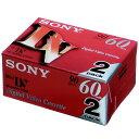 SONY 2DVM60R3 ミニDVカセット 2本パック 2DVM60R3 [2DVM60R3]