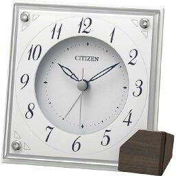 リズム時計 置時計 CITIZEN 白 8RG625-003 [8RG625003]