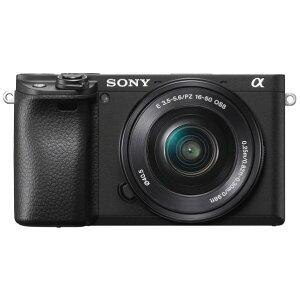 SONY デジタル一眼カメラ・パワーズームレンズキット α6400 ブラック ILCE-6400L B [ILCE6400LB]【RNH】