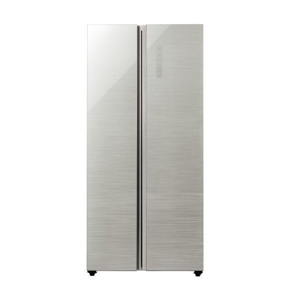 AQUA 449L 2ドアノンフロン冷蔵庫 パノラマオープン ヘアラインシルバー AQR-SBS45J(S) [AQRSBS45JS]【RNH】【ARMP】