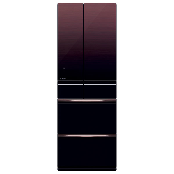 三菱 503L 6ドアノンフロン冷蔵庫 置けるスマート大容量 グラデーションブラウン MR-MX50F-ZT [MRMX50FZT]【RNH】