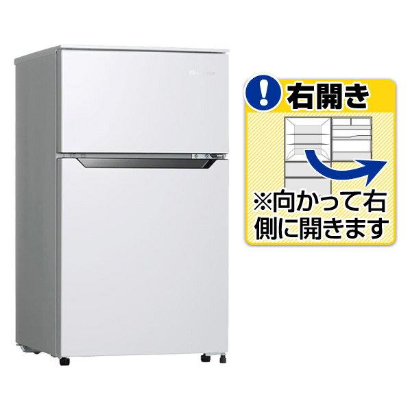 Hisense 93L 2ドア 直冷式冷凍冷蔵庫 ホワイト HR-B95A 1台