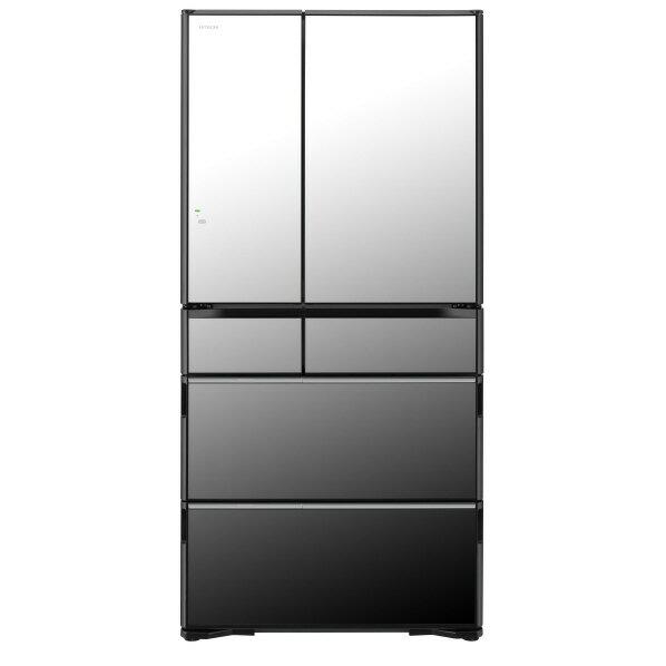 日立 735L 6ドアノンフロン冷蔵庫 クリスタルミラー R-WXC74N-X [RWXC74NX]【RNH】【MMPT】