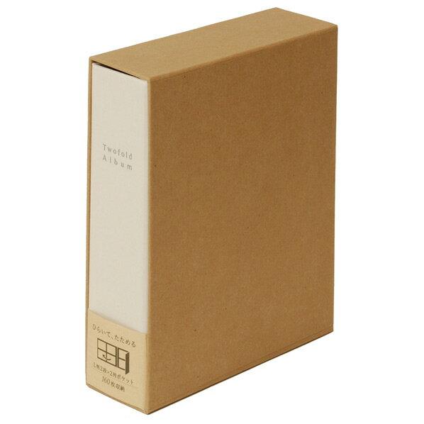 ナカバヤシ 折りたたみアルバム 布表紙160枚収納ベージュア-TPL-161-V