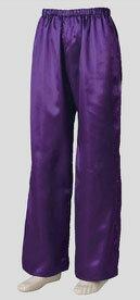 よさこい サテンストレートパンツ 紫M・L寸