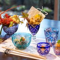 江戸切子テーブル和食1