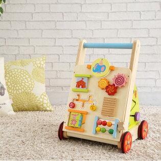 【1歳半〜/手押し車/カタカタ/木のおもちゃ/乗用玩具/知育玩具/歩行器】
