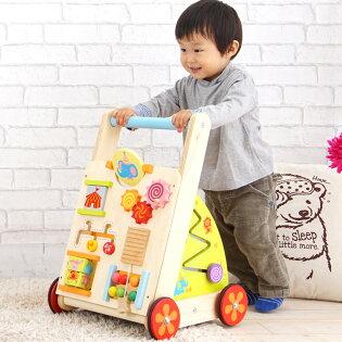 1歳半〜/手押し車/カタカタ/木のおもちゃ/乗用玩具/知育玩具/歩行器