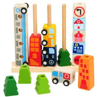 誕生日/1歳/2歳/知育玩具/ミニカーも楽しい知育おもちゃ【I'mTOY】ソート&カウントシティ