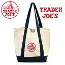 TRADER JOE'S トレーダージョーズ ロゴ刺繍 キャンバス エコバッグ ママバッグ トートバ ...