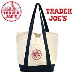 メール便送料無料 TRADER JOE'S トレーダージョーズ ロゴ刺繍 キャンバス エコバッ…