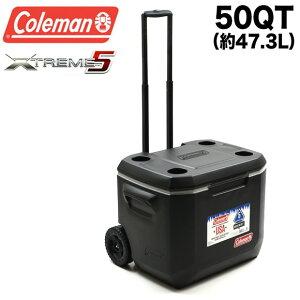 コールマン Coleman クーラーボックス エクストリーム 50QT 3000005145 ホイール クーラー 約47L 大容量 大型 キャスター付き ハードクーラー アウトドア キャンプ