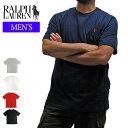 【メール便対応】【メンズ】POLO RALPH LAUREN ポロラルフローレン Tシャツ 半袖Tシャツ 674984 ONEPOINT CREW S/S TEE ワンポイント クルーネック 半袖Tシャツ