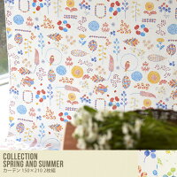CollectionSpringandSummerカーテン150×2102枚組グリーン