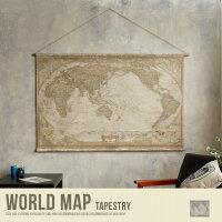 世界地図 タペストリー 壁掛け 地図 かわいい アンティーク レトロ 美容院 カフェ おしゃれ ヴィンテージ