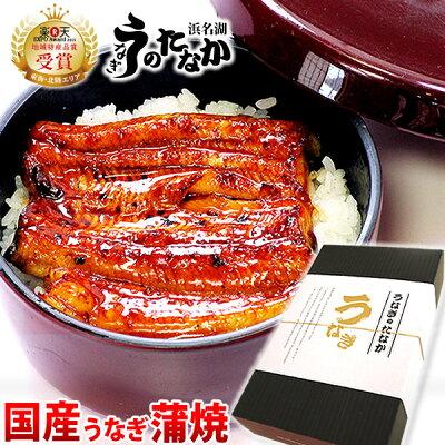 送料無料国産うなぎ蒲焼き3枚お祝い[Bset]BOX1
