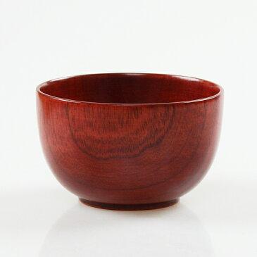【売り切れ御免・訳ありセール】木製 汁椀 赤杢目 φ11cm うるし塗り OW1168A