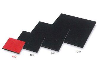 Wooden 4. 0 Square plate black / Vermillion 001-1011 (flower stand, flower stand) fs2gm