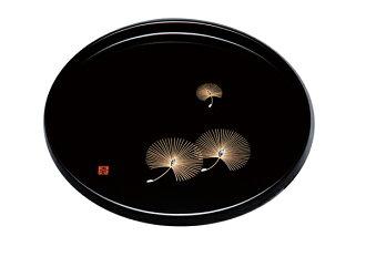 紀州漆器10。含0圓盤黑書貝的松樹21124(進行盤托盤木製托盤盤托盤盤)[輕鬆的gifu_包裝][輕鬆的gifu_伸展的收件人][fs01gm]fs2gm[RCP]