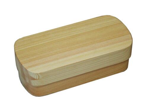 紀州桧材 くりぬき弁当箱 typeS-4 ナチュラル ナノコート(食洗機対応) 001-1462 (弁当...