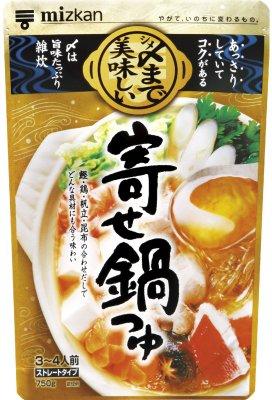ミツカン 〆まで美味しい寄せ鍋つゆ ストレート 750g×12袋