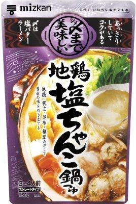 ミツカン 〆まで美味しい地鶏塩ちゃんこ鍋つゆ ストレート 750g×12袋