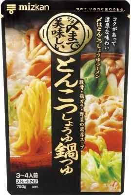 ミツカン 〆まで美味しいとんこつしょうゆ鍋つゆ ストレート 750g×12袋