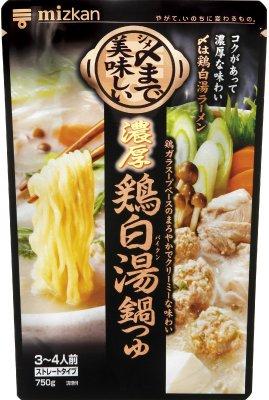 ミツカン 〆まで美味しい濃厚鶏白湯鍋つゆ ストレート 750g×12袋