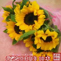 敬老の日花★元気なひまわり花束