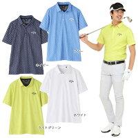 Callaway(キャロウェイ)1134508ゴルフウェアメンズポロシャツリーフプリント半袖シャツ