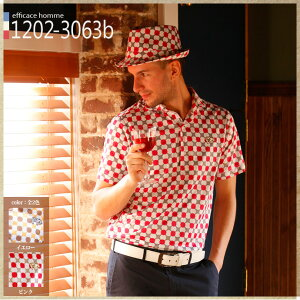 ゴルフウェア ゴルフ ポロシャツ レトロフレンチスタイル EVEN掲載●グラフィカルフラワー ...