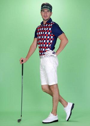 『2017SS新作!』チェック柄切り替えレギュラー襟ポロシャツefficace-hommeエフィカスオムメンズゴルフウェア