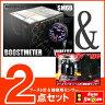 オートゲージ ブースト計 SM 60Φ ホワイトLED ワーニング + 補修用センサー 【2点セット】