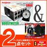 オートゲージ ブースト計 SM 60Φ ホワイトフェイス ホワイトLED + 補修用センサー 【2点セット】