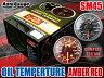 オートゲージ 油温計 SM45Φ アンバーレッドLED オイル 温度 オイルクーラー 追加 メーター 即納 送料無料