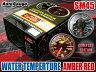 オートゲージ 水温計 SM45Φ アンバーレッド LED 冷却水 温度 オーバー・ヒート・クール サーキット 峠 ラジエータ 追加 メーター 即納 送料無料