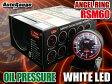オートゲージ 油圧計 RSM 60Φ エンジェルリング ホワイト LED オイル プレッシャー 追加 メーター サーキット 峠 即納 送料無料