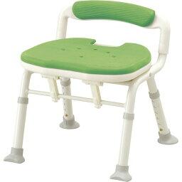 アロン化成 安寿 コンパクト折りたたみシャワーベンチIC (骨盤サポートタイプ)/グリーン
